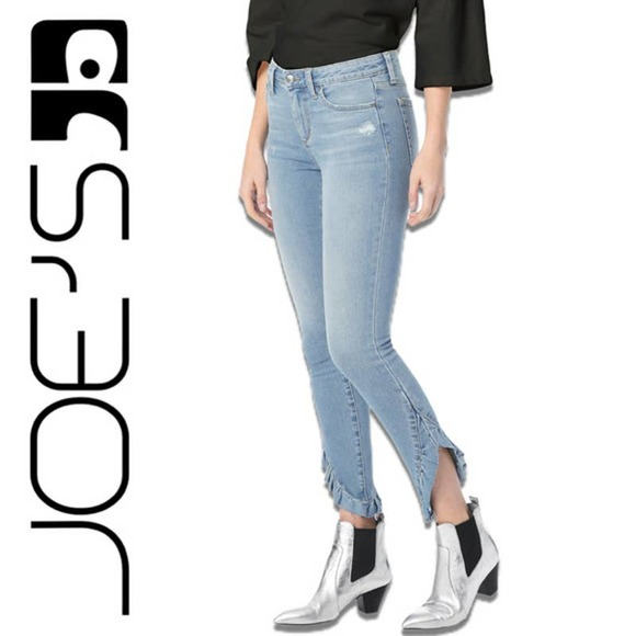 Joe's Jeans The Icon Mid-Rise Ruffle Ankle Jeans